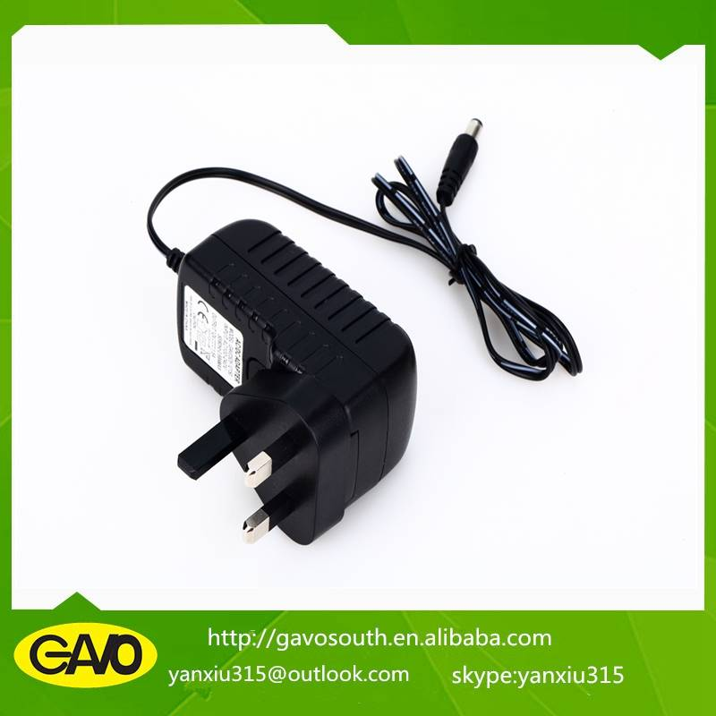High quality China manufacture 12v UK plug power adapter supply with CE approval