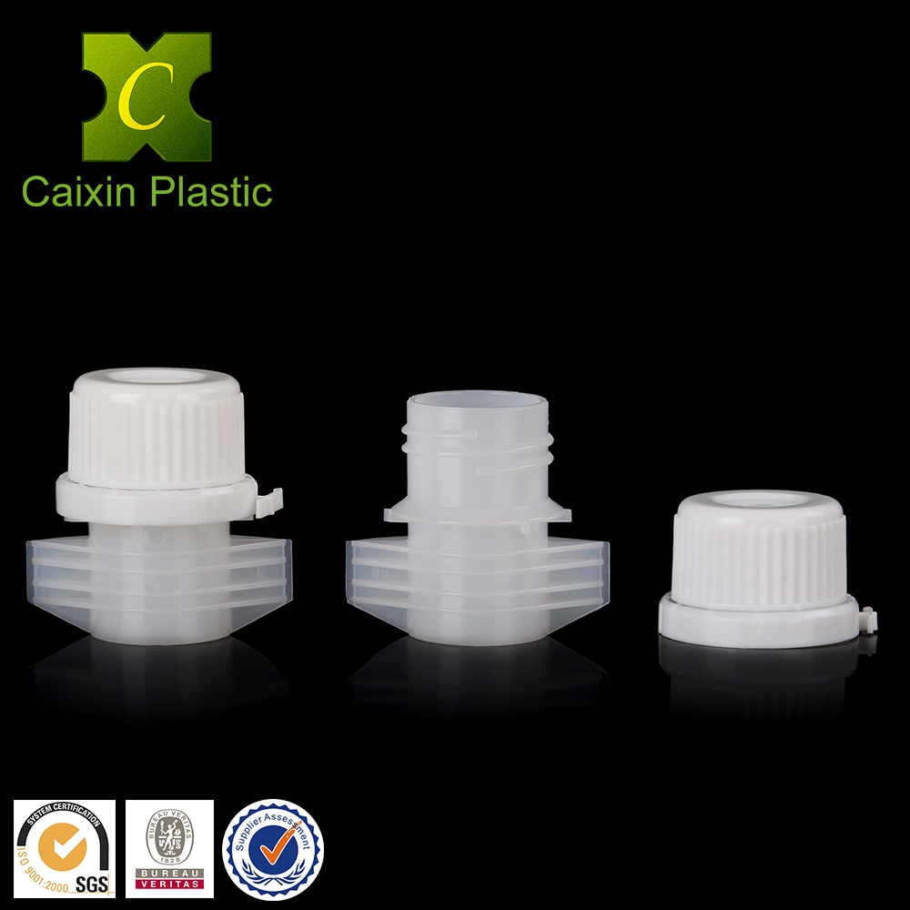 19mm large spout cap for water/liquid/powder packaging