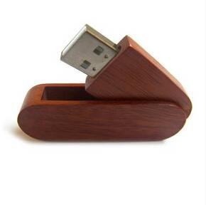 Wood wooden swivel plug play USB flash drive disks