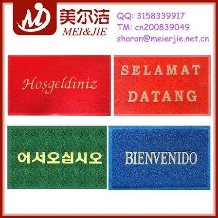 Popular PVC Door Mats with Different Languages