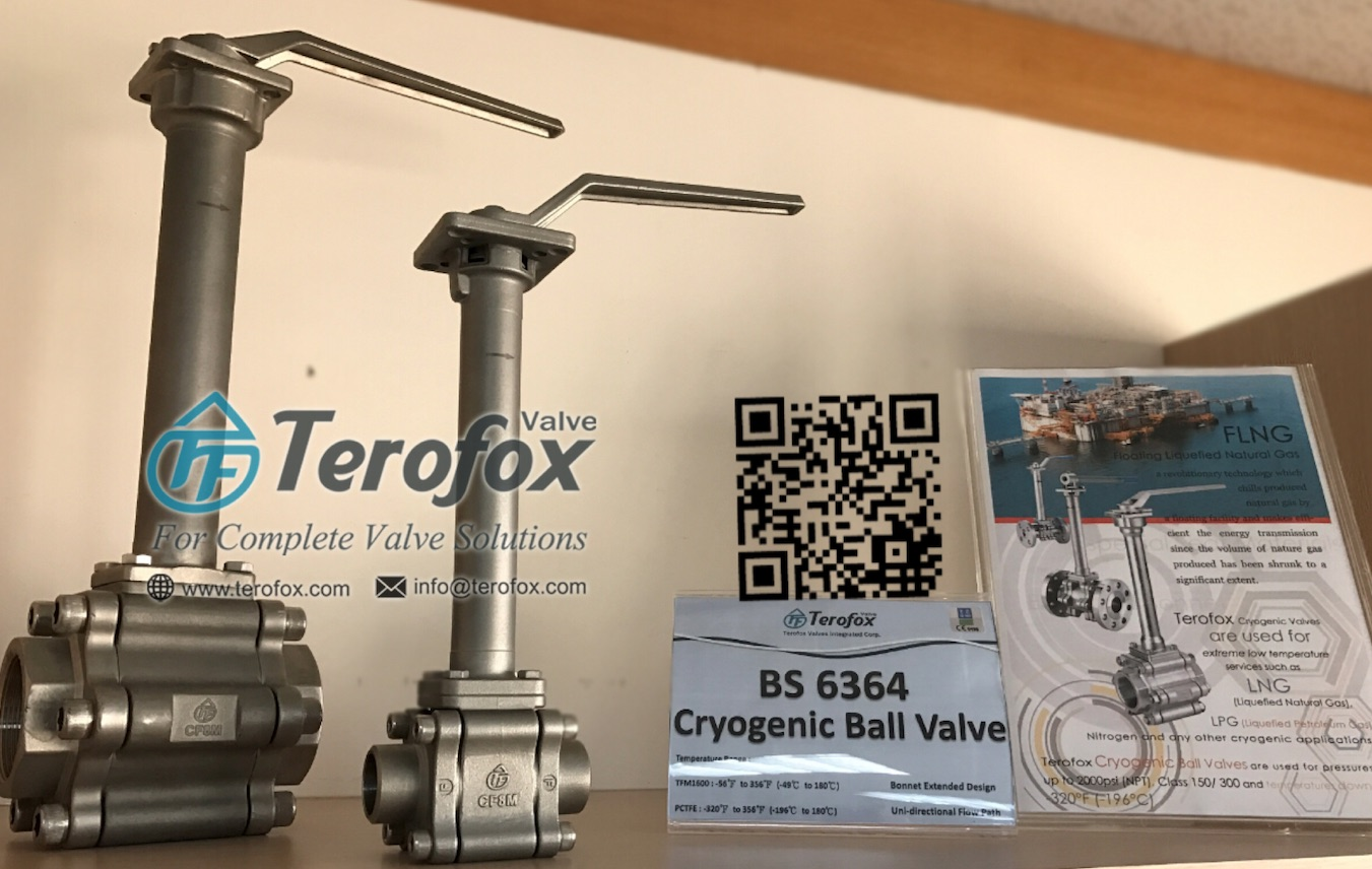 BS6364 cryogenic ball valve