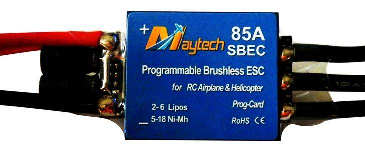 Brushless ESC for R/C helicopter (MT85A-SBEC)
