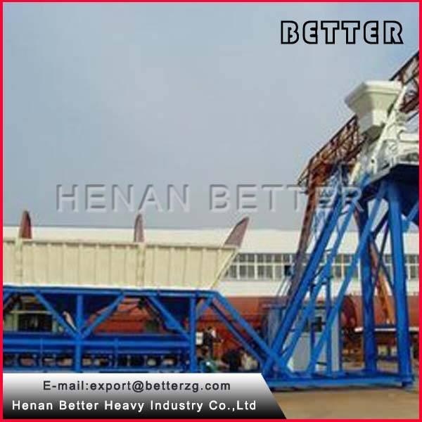 Convenient Transporation YHZS25 Mobile Concrete Batch Plant Price