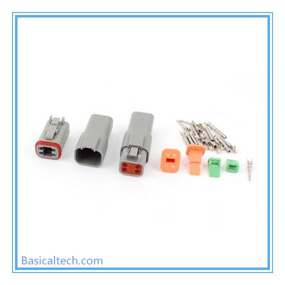 Waterproof Automotive 4 Pin Deutsch Connector Dt04-4p