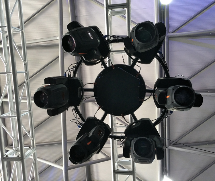 stage supporting structure super rotating round truss for moving head light with factory price