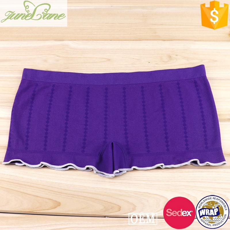 Sweet purple color boyshorts panty girls preteen underwear
