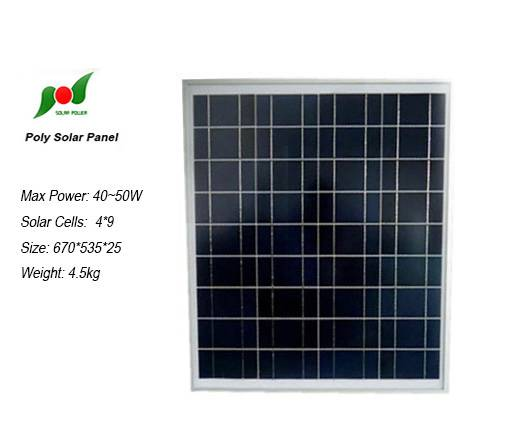 50W 18V High efficiency solar pv modules for small power system