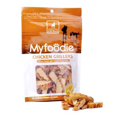 Myfoodie Gourmet All Natural Chicken Grill Dog Treats Chews 16oz