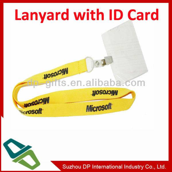 Promotional Fashion Polyster Lanyard with ID Card