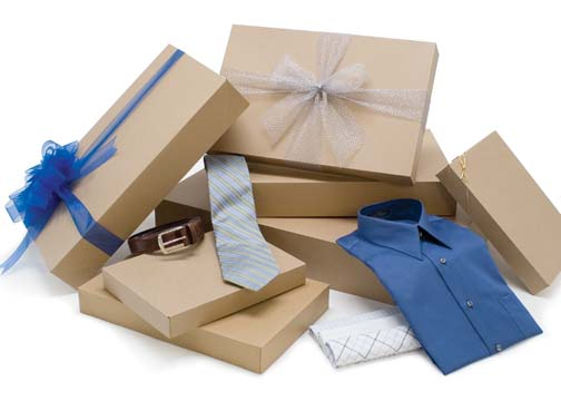 cardboard boxes and packaging