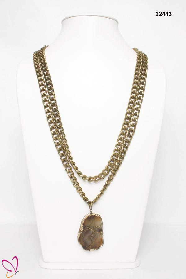 Natural Stone Necklace, Pendent Necklace
