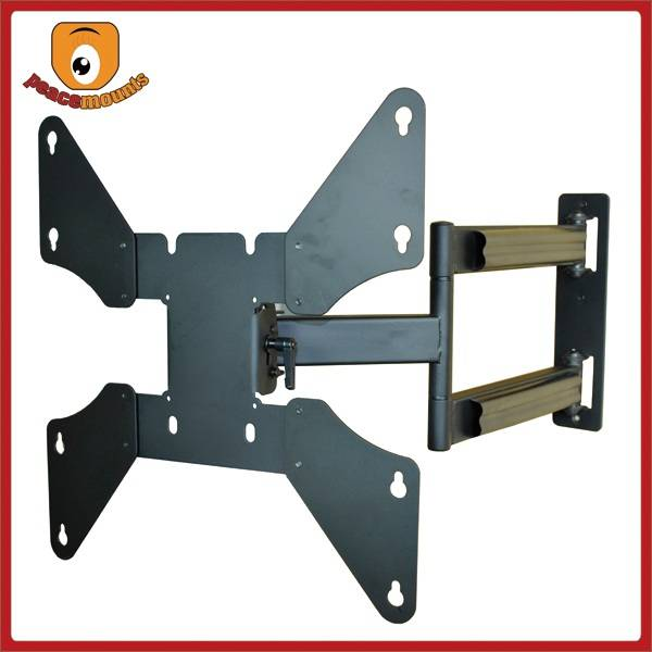 Max load capacity ups to 80lbs with 25 Degrees Tilting Popular Full Motion TV Wall Mount Brackets