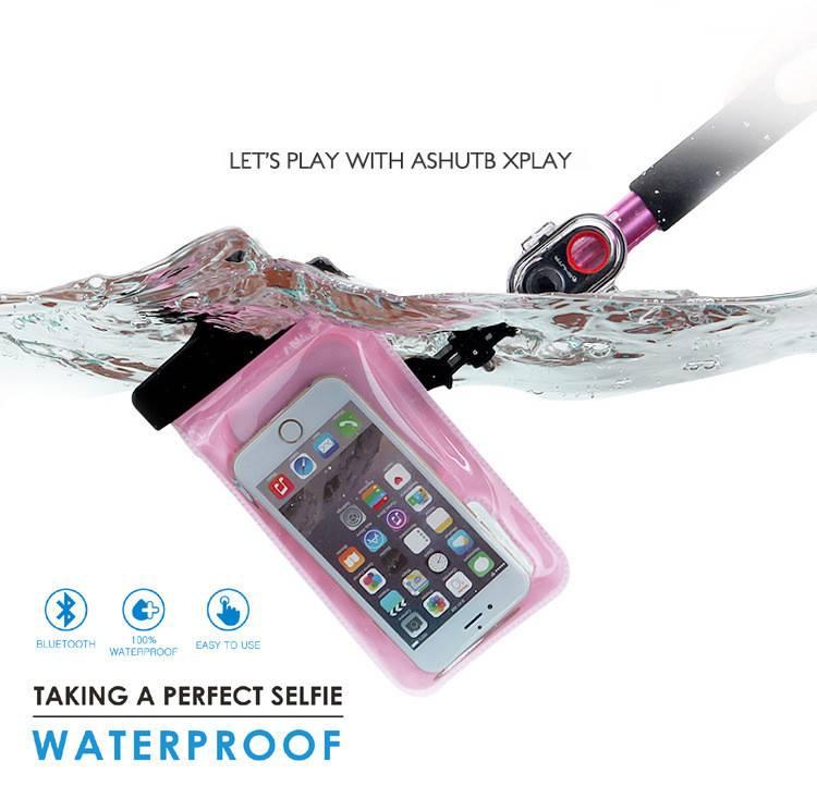 Aluminum materia lightweight type waterproof monopod selfie stick