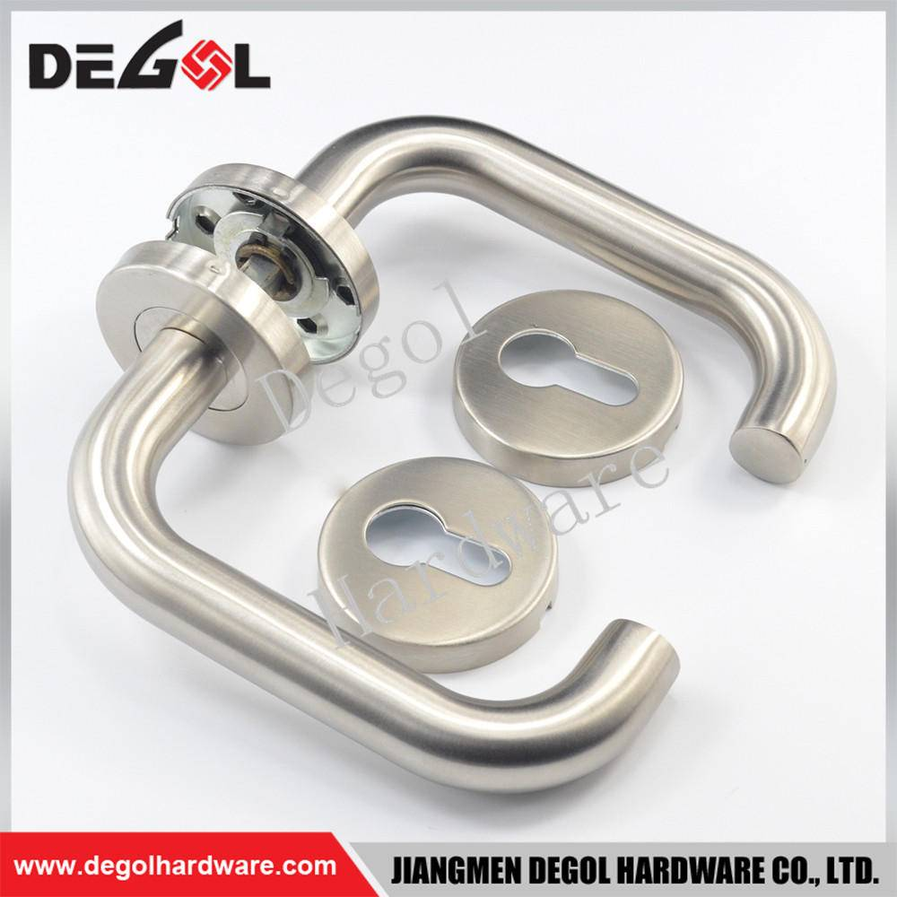 Hot Sale Stainless Steel Tube Lever Type Residential Door Handle