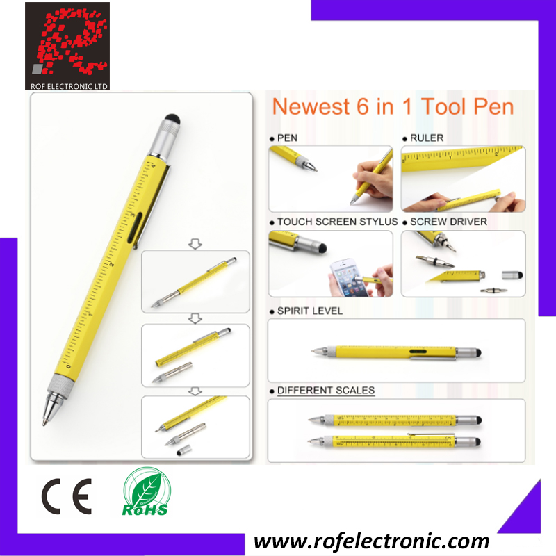 Multifunctional Tool Pen with level and screwdriver