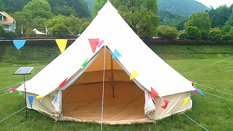 Large 5M Canvas Bell Tent 2017