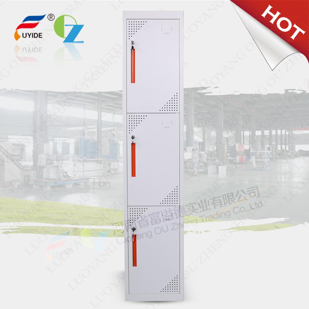 Vertical 3 door employee locekr/closet cabinet locker