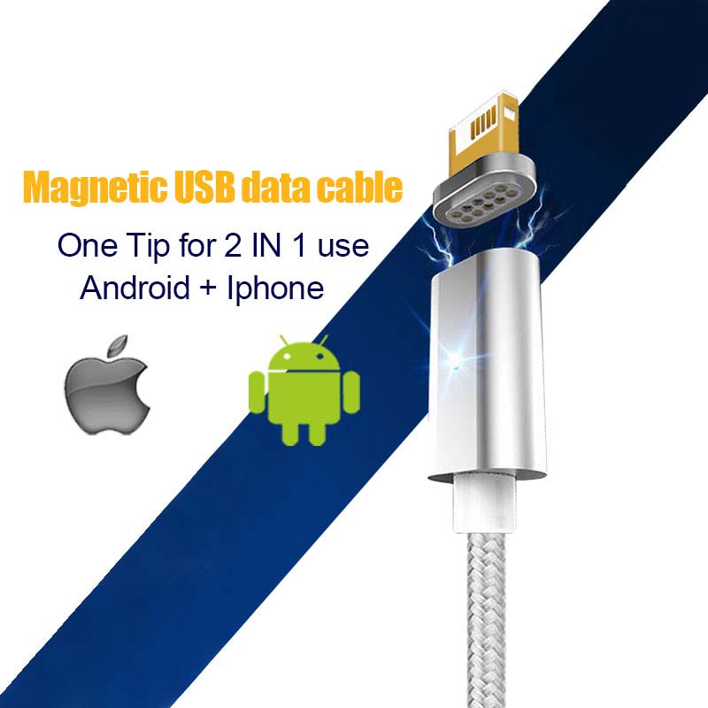 Newest fast charging micro usb nylon braided cable magnetic data cable for sale