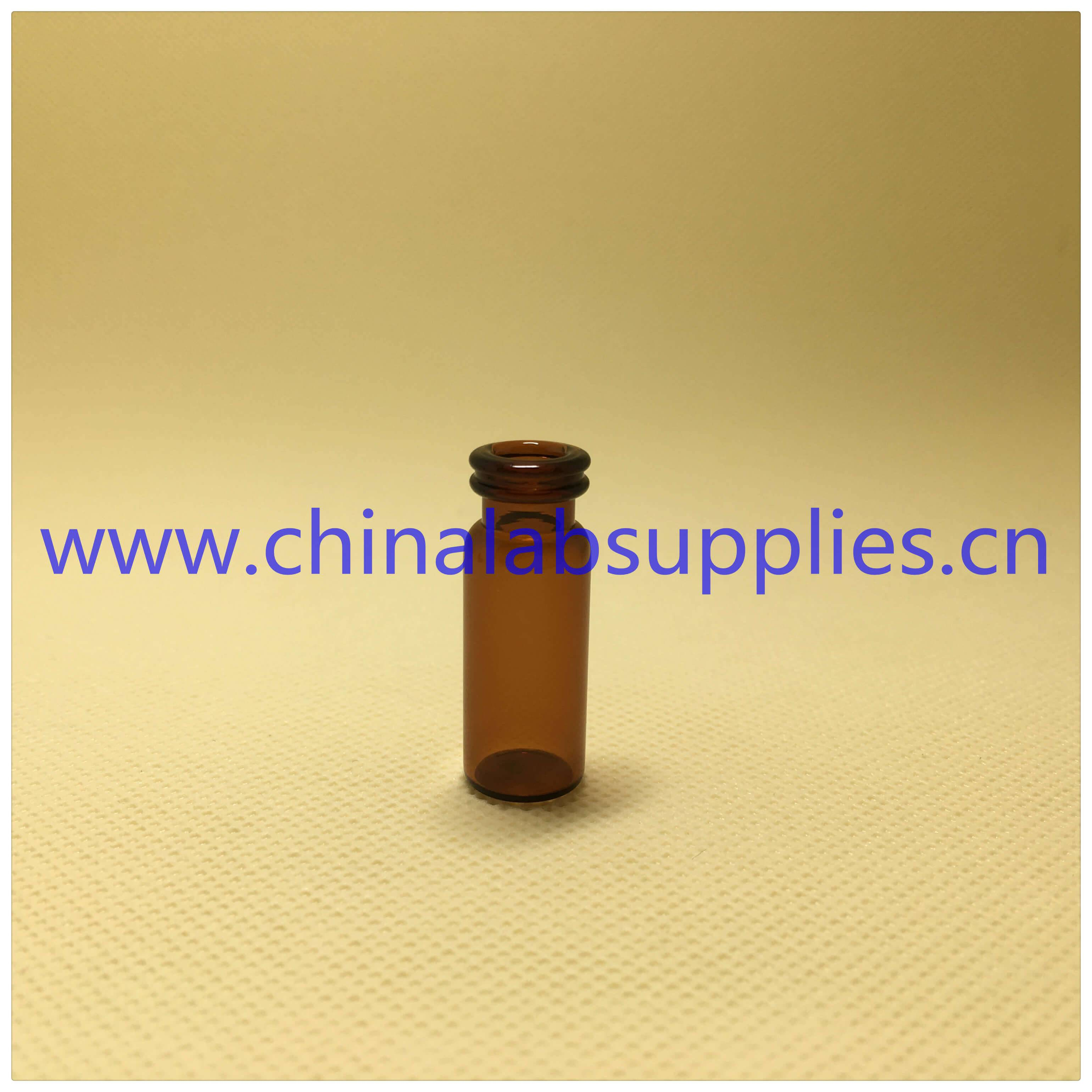 Top quality high recovery vials amber glass snap top vials V1035