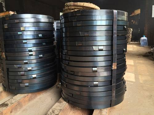 Bluing steel strapping