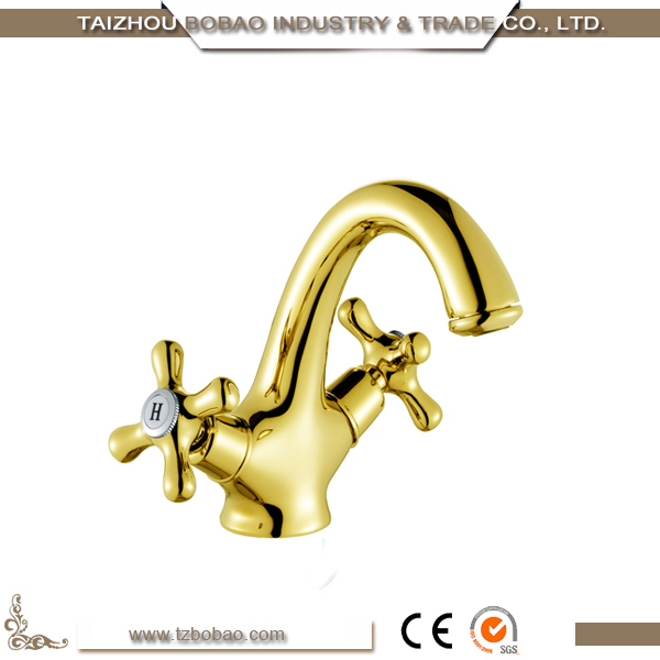 Hot Sale Luxury Gold Color Basin Faucet From China European Style
