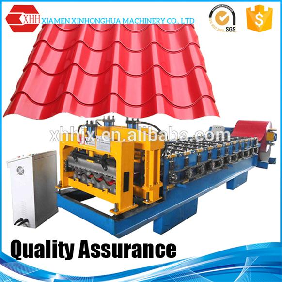 Corrugated Metal Roof Glazed Tile Roll Forming Machine Made in China