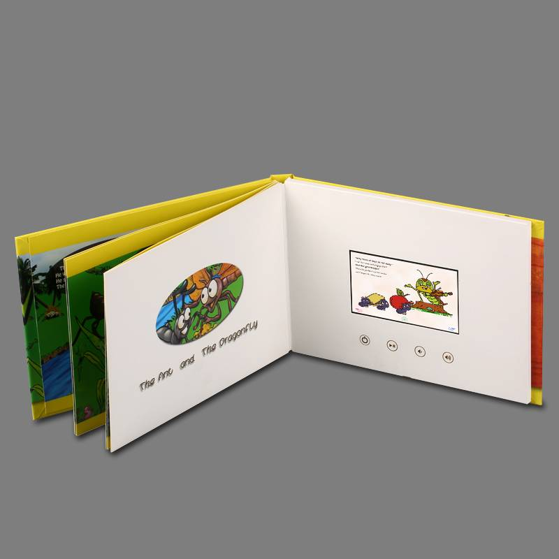 "2016 most popular souvenir 5""lcd video book,video brochure"