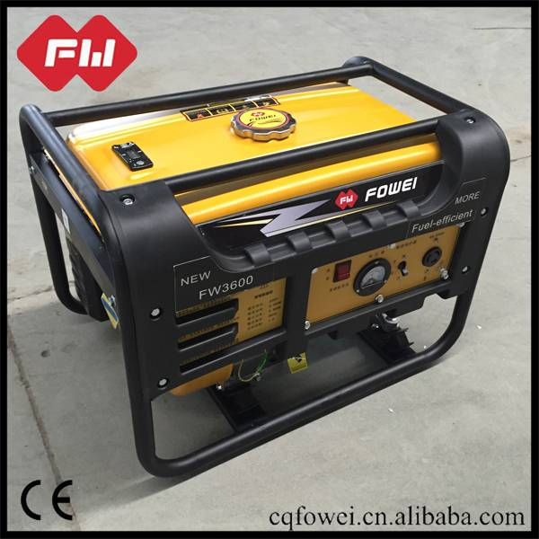 Low niose gasoline generator with forced air-cooling system