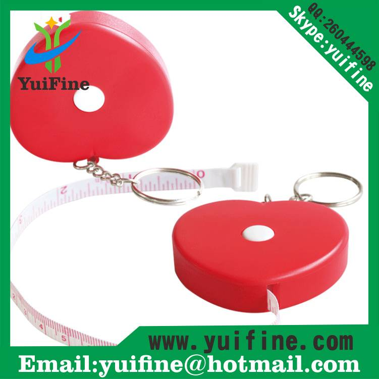 Love Heart Shape Tape Measure 1.5m/60inch with Keychain 150cm Meters Lovely Mini Cute Retractable