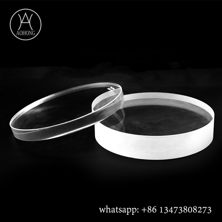 Circular and Round borosilicate sight glass with polished edge