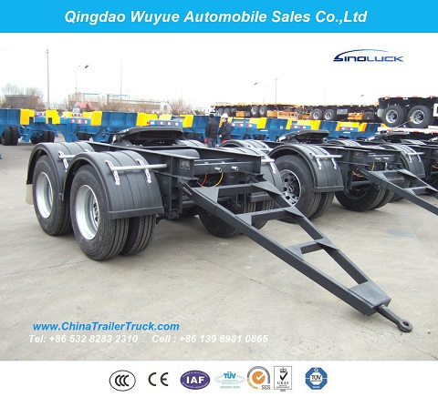 Tandem Axle Semi Trailer Dolly for Over Heavy Duty Lowboy or Faltbed Trailer Dolly