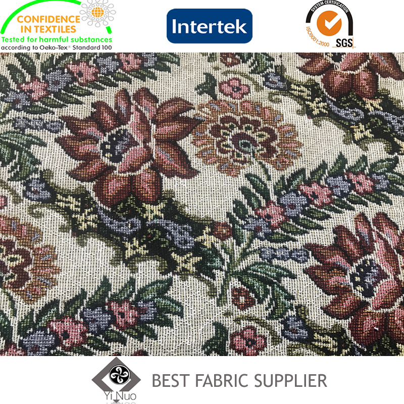 Poly Cotton Jacquard Fabric Bag Table Cloth Carpet Fabric