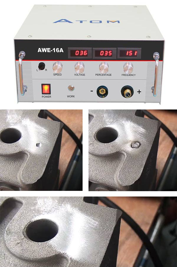 Aluminium casting defect hole welding machine, Cold welding machine - AWE-16A