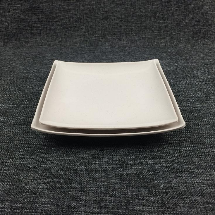 Square melamine plate pure color for hotel