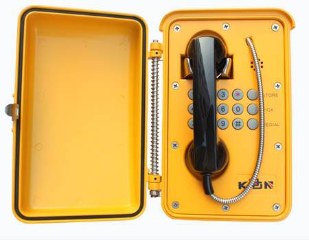 waterproof industrial telephone used in subway or highway KNSP-01