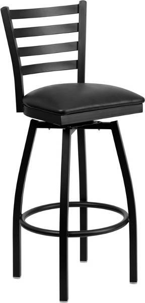 The swivel ladder back metal barstool bar furniture bar chair