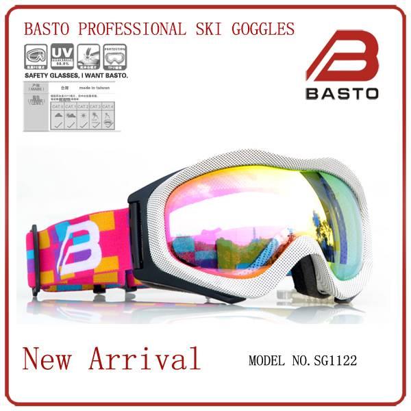 Top design fashion revo lens customized snow ski goggles