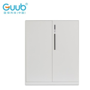 Cheap steel file cabinet swing doors smart lock metal storage cabinet for office