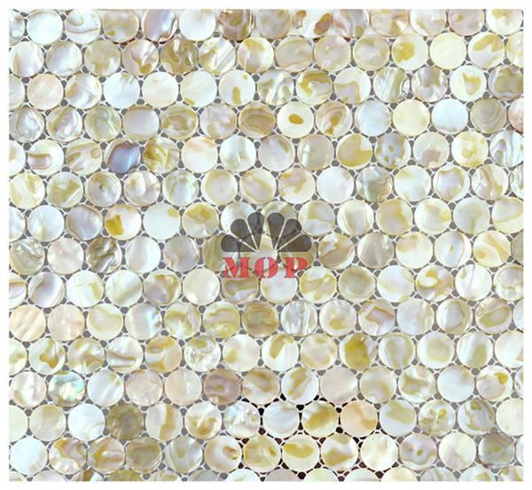 chinese river shell mosaic slab fireplace