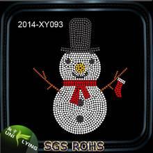Free Custom Snowman Rhinestone Christmas Transfers For Clothing