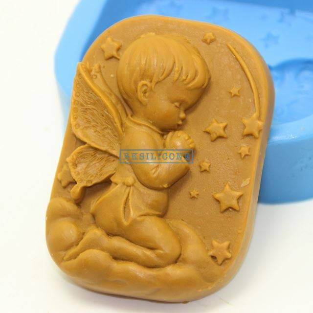 Pray For The Boy Angel Silicone Molds Soap Mold Pasty Mold Silicone rubberr AB001