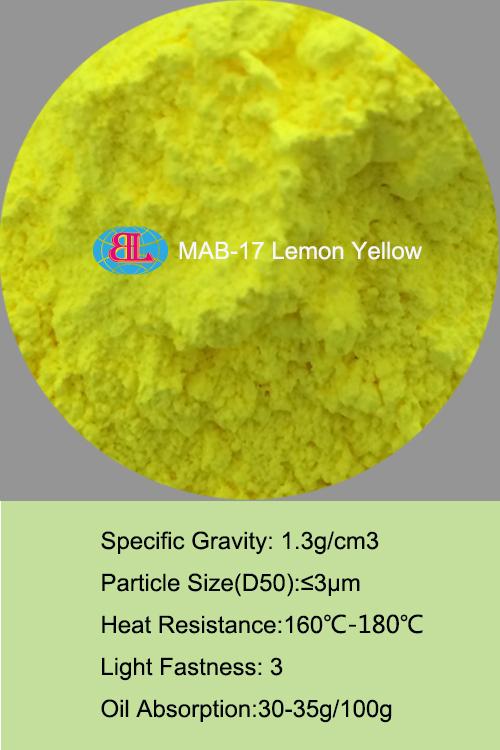 MAB-17 lemon yellow Fluorescent Pigment for coating