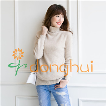 100% merino wool turtleneck cable-knit sweaters for women