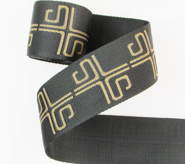Heat transfer printed polyester webbing with customized logo