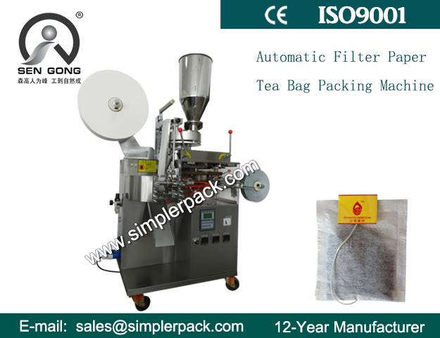 Single Serving Filter Paper Tea Bag Packing Machine with Touch Screen