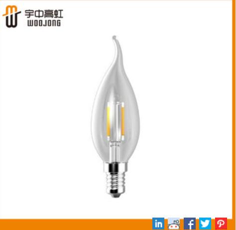 BA11/2.5W LED filament bulb E14 UL Approved for decorative