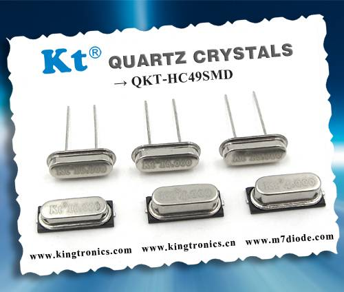 Kt Kingtronics Best Seller Quartz Crystals QKT-HC49SMD