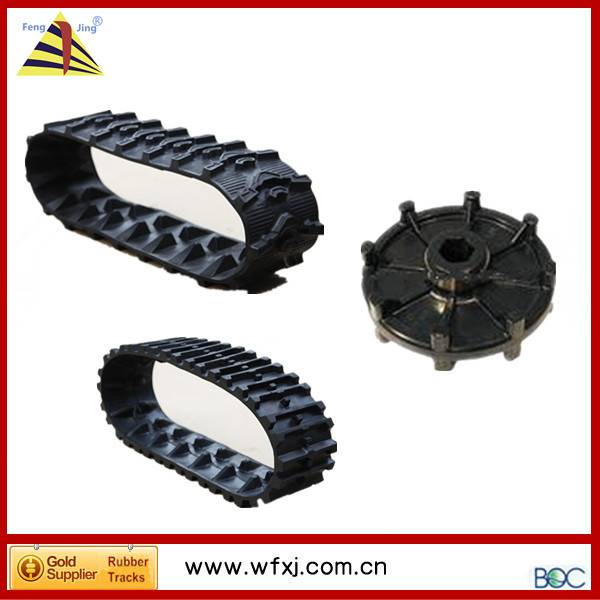 snow blower / sweeper/thrower rubber track