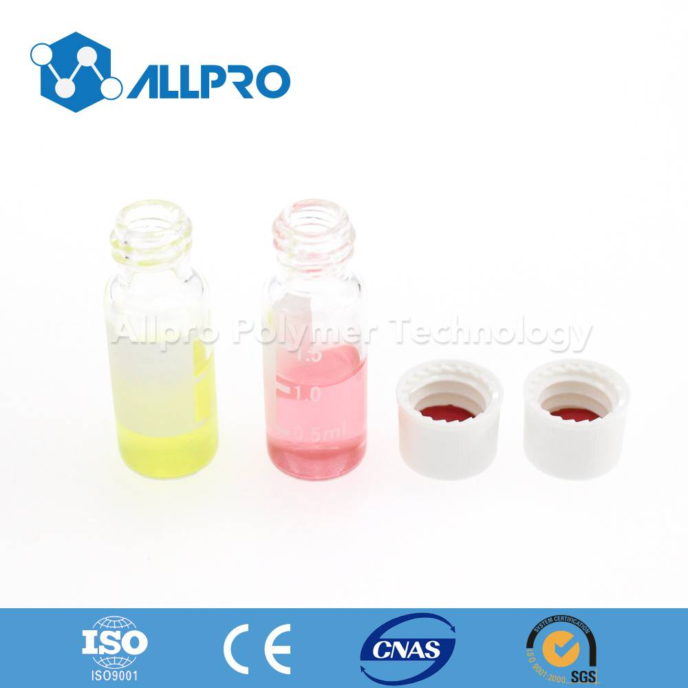 8-425 clear screw top vials with writing patch
