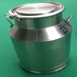 Stainless steel vessel milk container